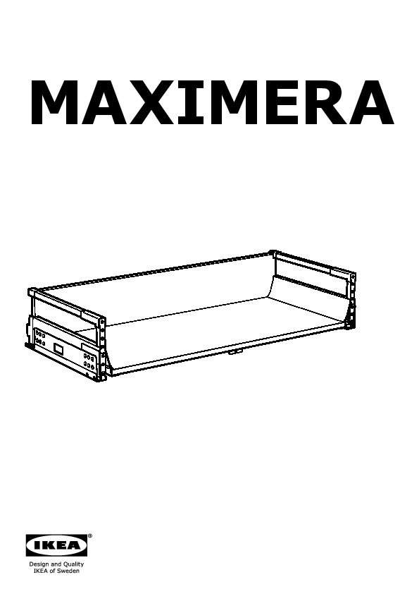 maximera tiroir moyen blanc ikea france ikeapedia. Black Bedroom Furniture Sets. Home Design Ideas