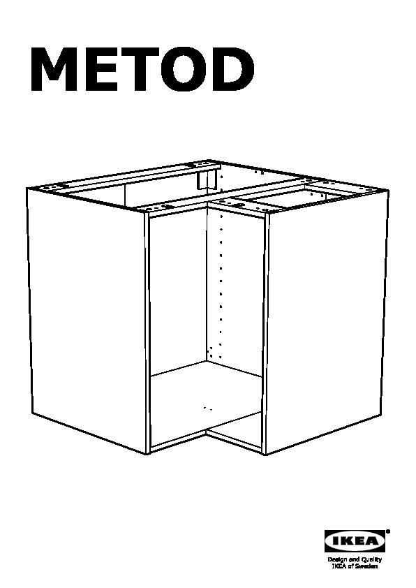 Metod Corner Base Cabinet Frame