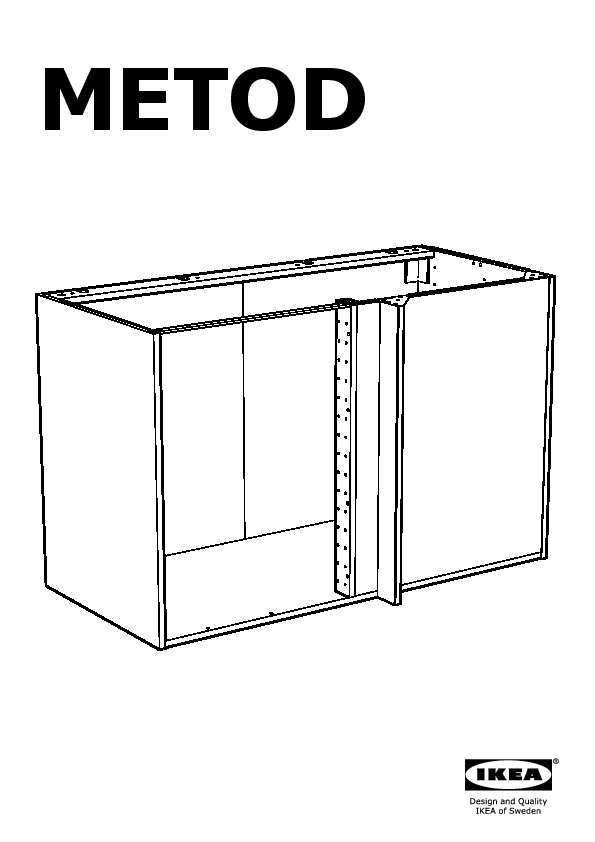 Metod Corner Base Cabinet With Shelf White Voxtorp White Ikeapedia