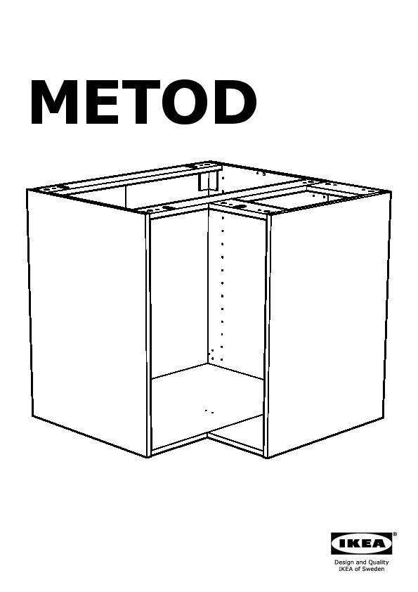 Metod l ment bas angle rgt pivotant noir tingsryd for Dimension meuble d angle cuisine
