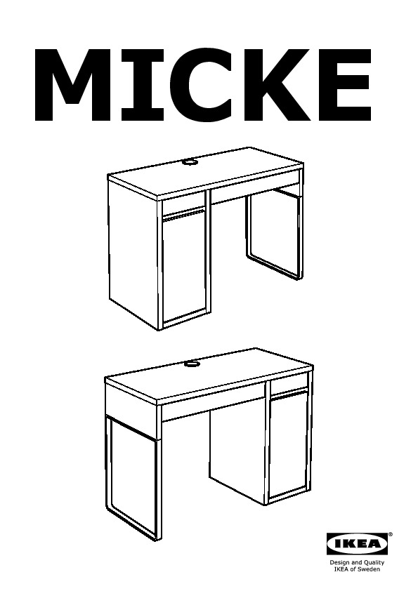 micke poste de travail blanc ikea france ikeapedia. Black Bedroom Furniture Sets. Home Design Ideas