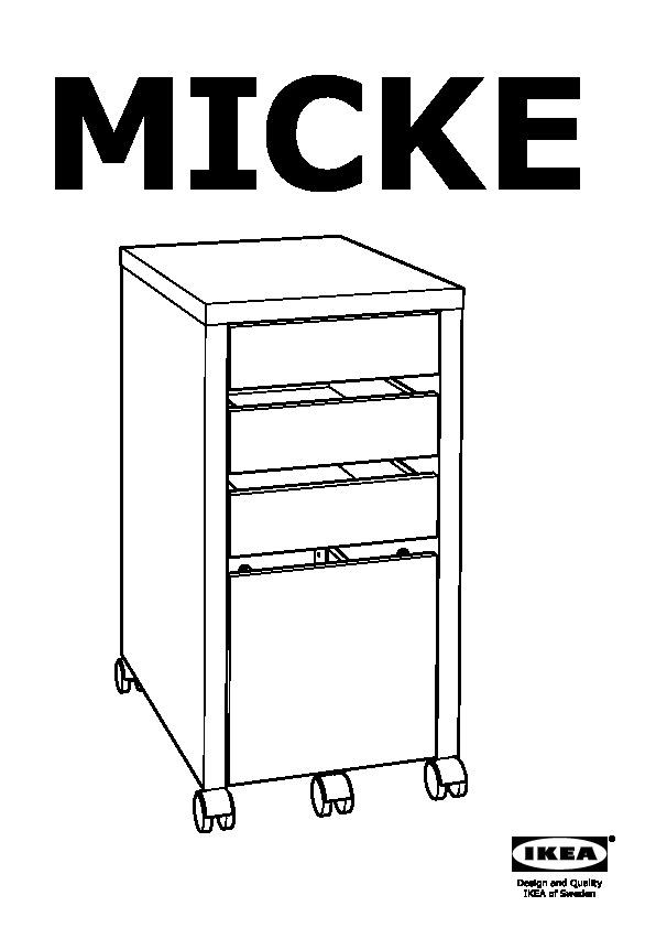 Cassettiera Micke Ikea.Micke Cassettiera Con Schedario Marrone Nero Ikea Italy