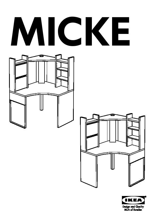 micke poste de travail d 39 angle blanc ikea france ikeapedia. Black Bedroom Furniture Sets. Home Design Ideas