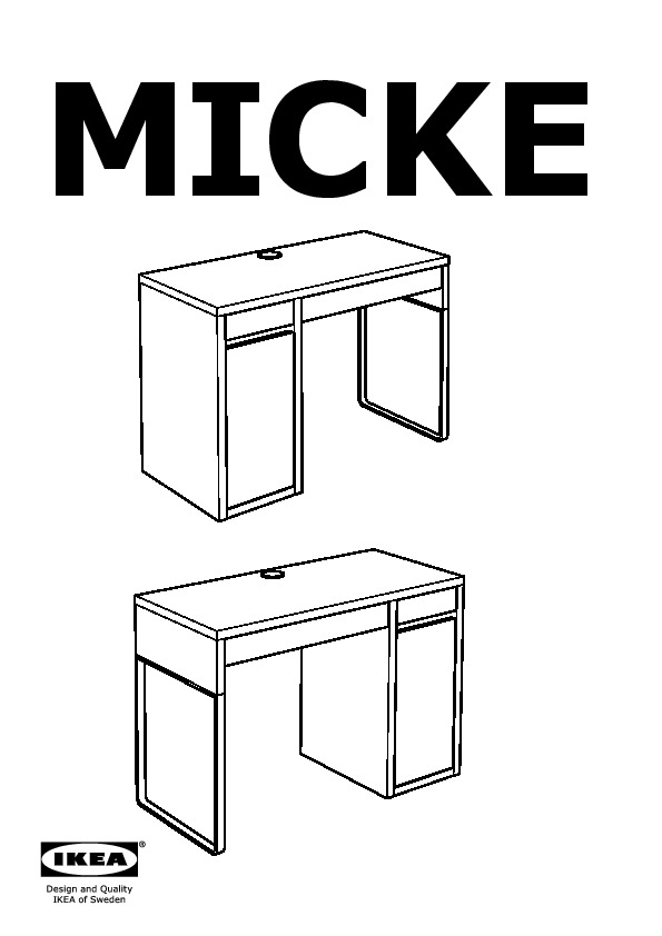 Micke Desk 10244743 Assembly Instruction
