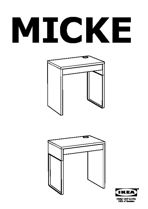 30213076 Micke Desk Assembly Instruction