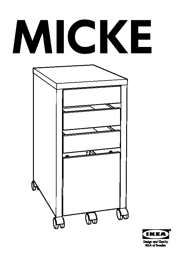 buy online 8b3bf 3013b MICKE Drawer unit/drop file storage white (IKEA United ...