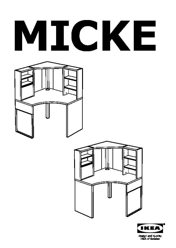 micke poste de travail d 39 angle blanc ikea france ikeapedia. Black Bedroom Furniture Sets. Home Design Ideas