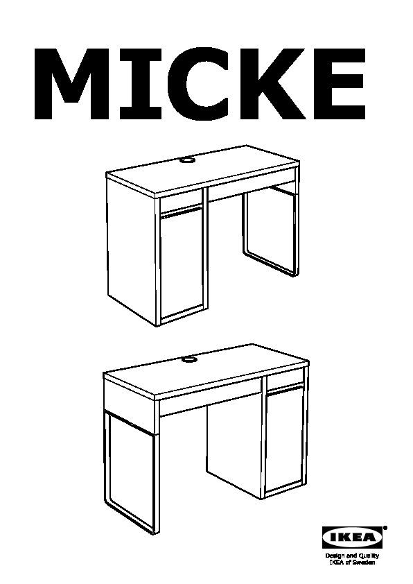 Ikea Scrivania Micke Bianca.Micke Mobile Studio Bianco Ikea Italy Ikeapedia