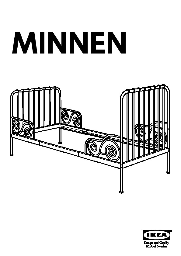 MINNEN Extendable Bed Frame