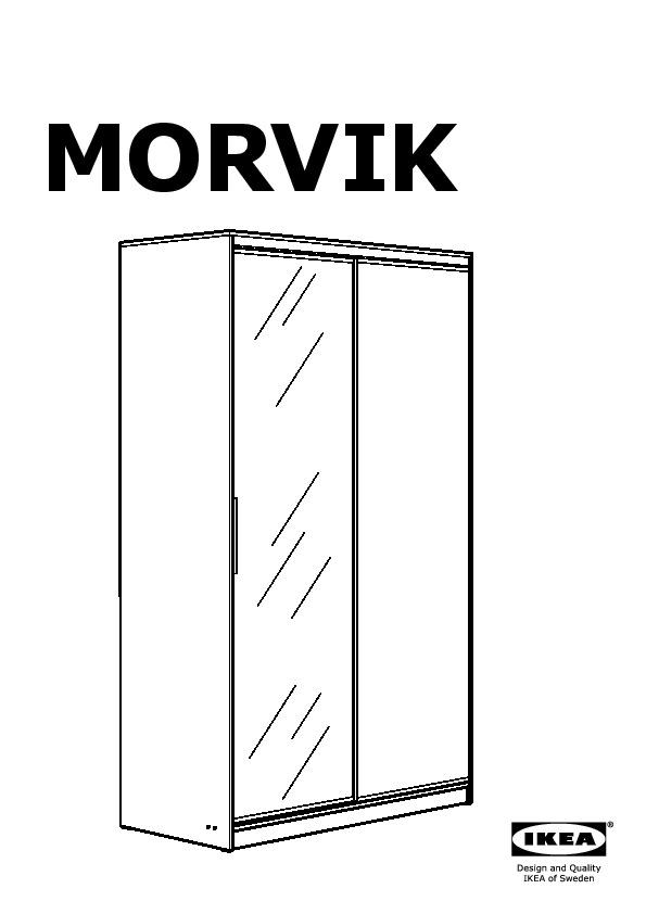 Morvik wardrobe white mirror glass ikea united kingdom - Penderie roulette ikea ...