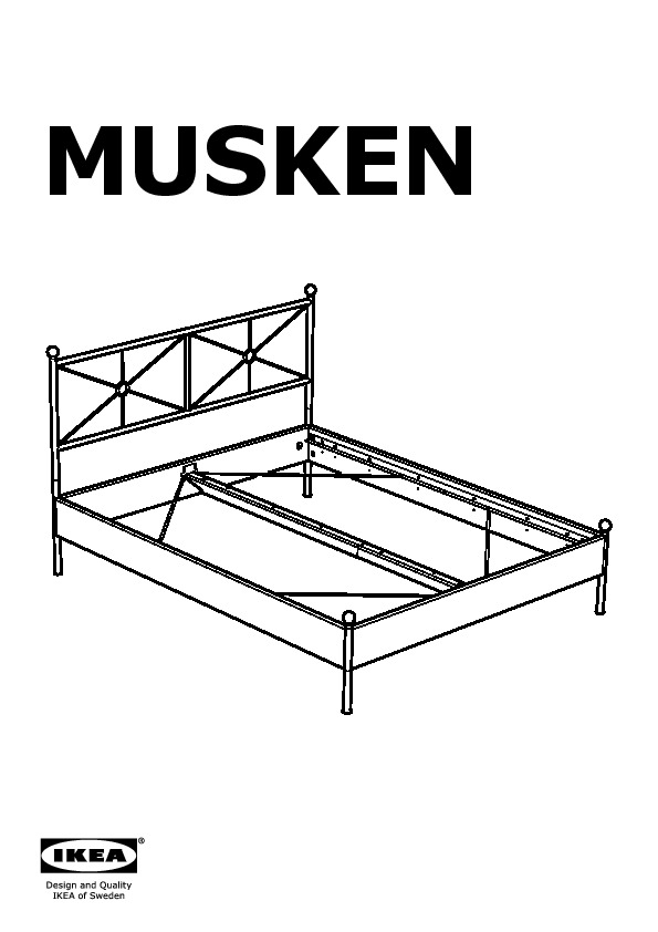 musken cadre de lit ikea france ikeapedia. Black Bedroom Furniture Sets. Home Design Ideas