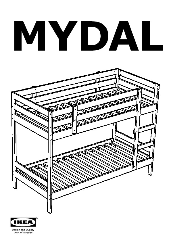mydal bunk bed instructions