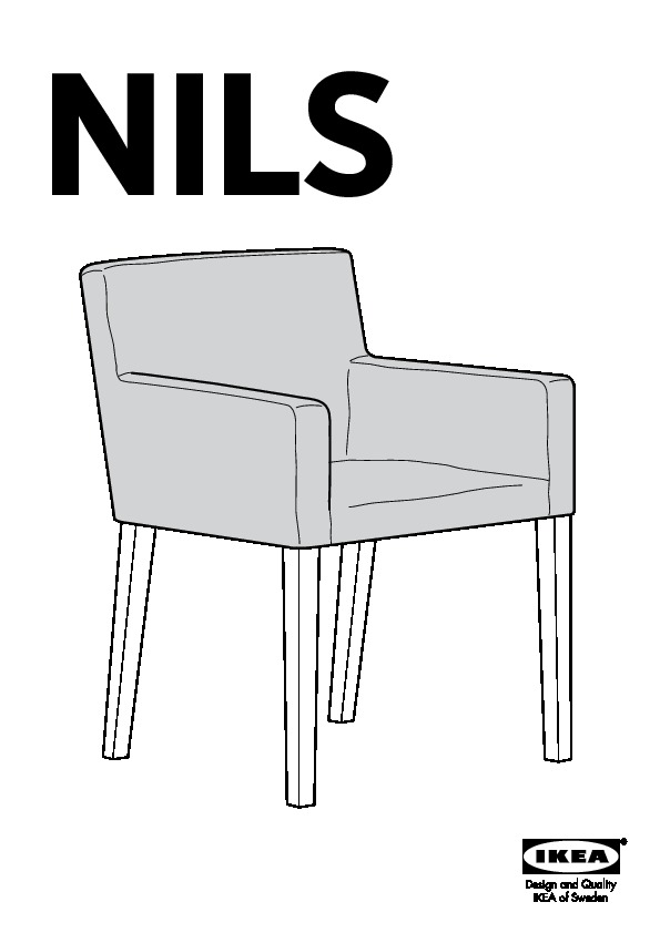 nils chaise accoudoirs noir blekinge blanc ikea france ikeapedia. Black Bedroom Furniture Sets. Home Design Ideas