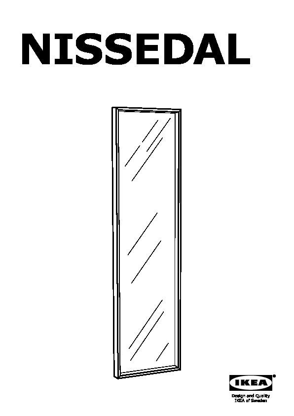 Nissedal Miroir Blanc Ikea France Ikeapedia