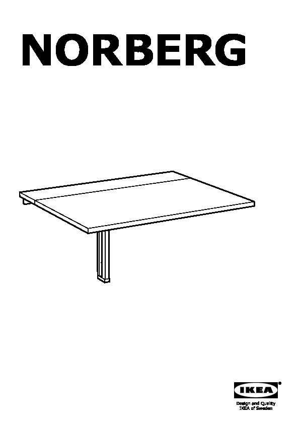 NORBERG Tavolo ribaltabile da parete bianco (IKEA Italy) - IKEAPEDIA