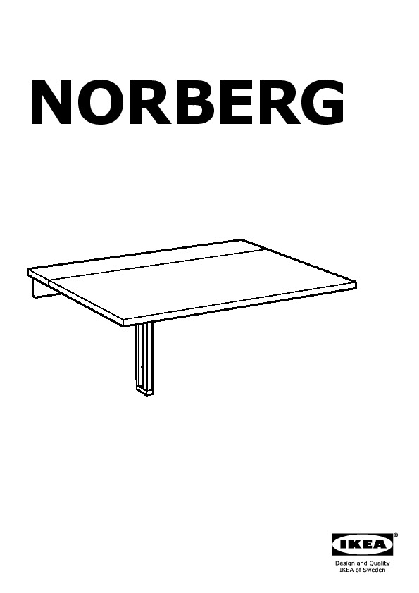 NORBERG Wall-mounted Drop-leaf Table White (IKEA Canada