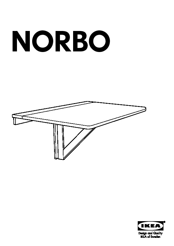 NORBO Wall-mounted drop-leaf table birch (IKEA United States ... on