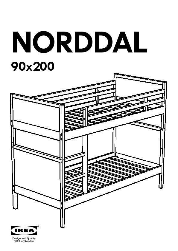 Norddal Bunk Bed Frame Black Ikea