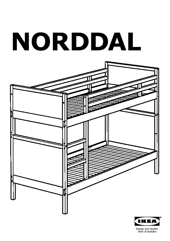 norddal structure lits superpos s brun noir ikea france. Black Bedroom Furniture Sets. Home Design Ideas