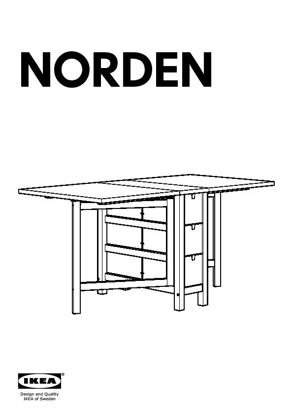 Norden Terje Table Et 2 Chaises Bouleau Blanc Ikea France