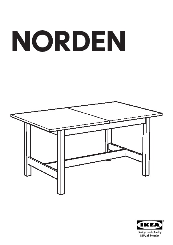 Norden Table Extensible Bouleau Ikeapedia