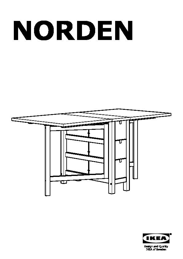 Norden leifarne tavolo e 2 sedie betulla bianco ikea - Tavolo a ribalta ...