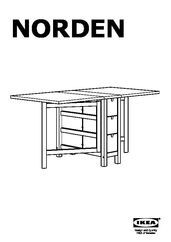 Norden norraryd tavolo e 2 sedie bianco bianco ikea - Norden tavolo a ribalta ...