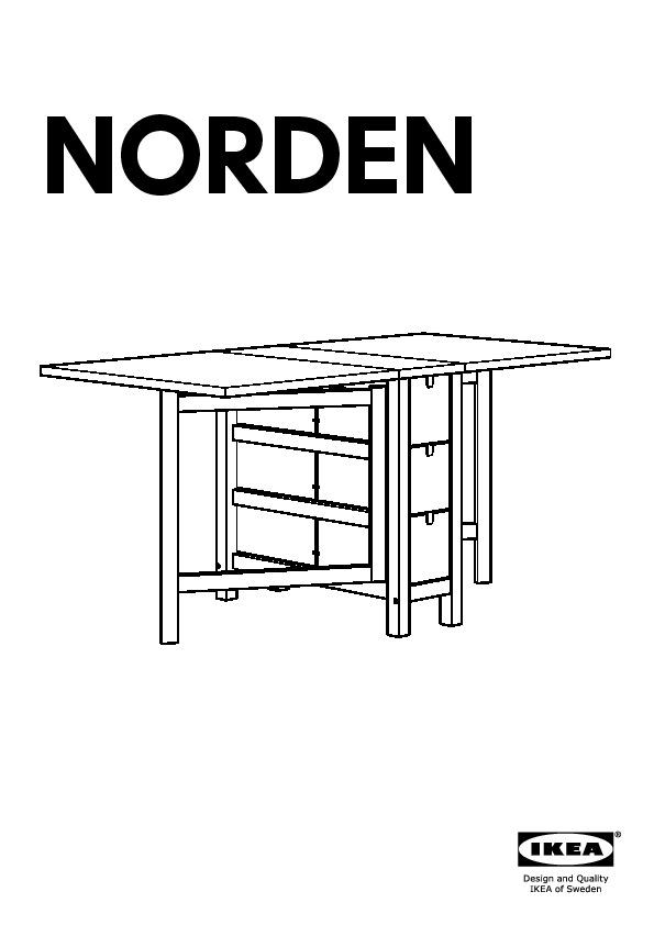 Norden norraryd tavolo e 2 sedie bianco bianco ikea - Tavolo a ribalta ...