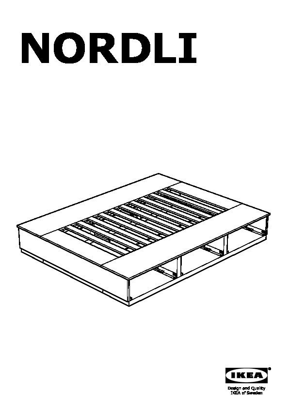 nordli cadre lit avec rangement blanc ikea france. Black Bedroom Furniture Sets. Home Design Ideas
