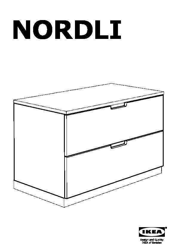 Ikea Cassettiere Nordli.Nordli Cassettiera Componibile 2 Cassetti Bianco Ikea