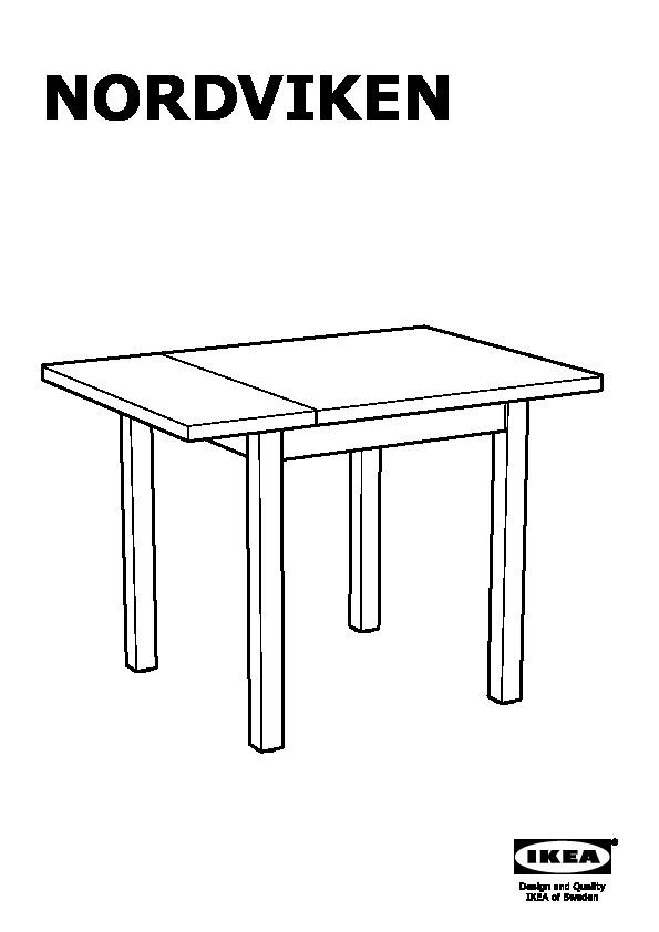 NORDVIKEN Table à rabat