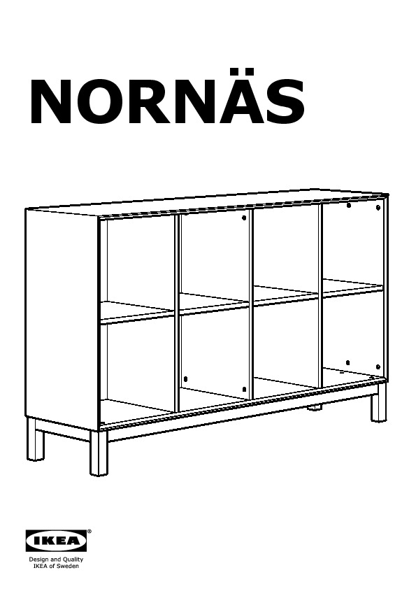 norn s meuble bas pin gris ikea france ikeapedia. Black Bedroom Furniture Sets. Home Design Ideas