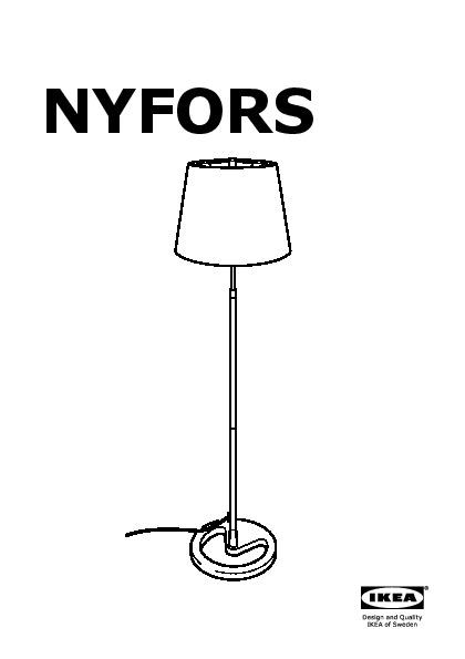 NYFORS Lampadaire nickelé (IKEA France) IKEAPEDIA