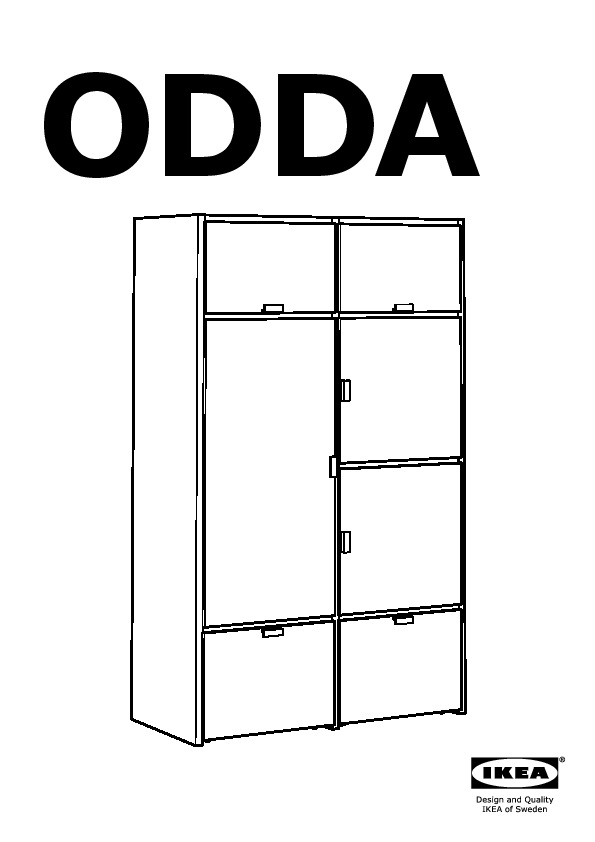 odda armoire noir blanc ikea france ikeapedia. Black Bedroom Furniture Sets. Home Design Ideas
