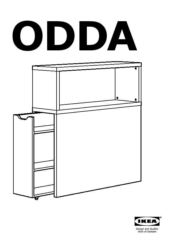 Odda Tete De Lit Avec Rangement Blanc Rouge Ikea France Ikeapedia
