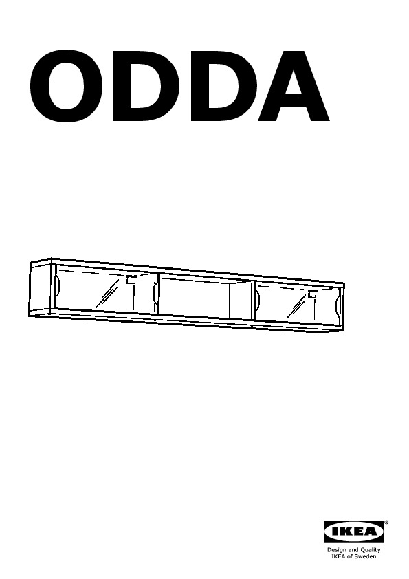 Odda wall cabinet with sliding door white red ikea - Etagere murale porte coulissante ...