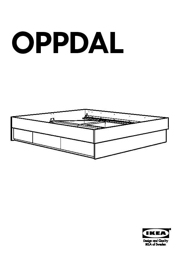 oppdal cadre lit avec rangement brun noir ikea france ikeapedia. Black Bedroom Furniture Sets. Home Design Ideas