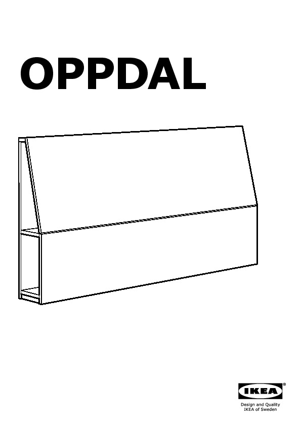 OPPDAL Headboard with storage compartment black brown (IKEA United States) IKEAPEDIA