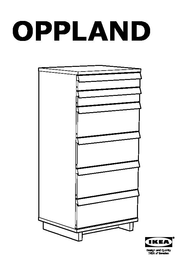 Cassettiera Ikea 6 Cassetti.Oppland Cassettiera Con 6 Cassetti Impiallacciatura Di Rovere Ikea