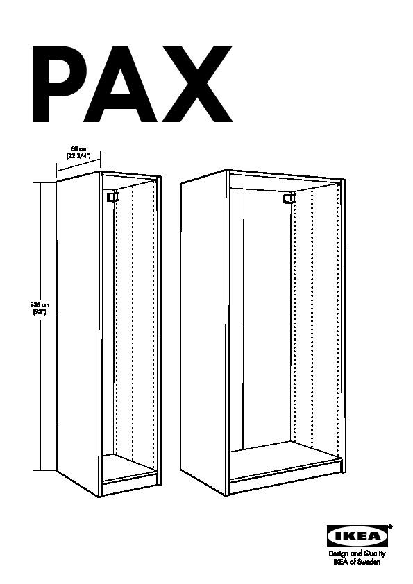 Pax Armoire Portes Coulissantes Malm Brun Noir Ikea Belgium