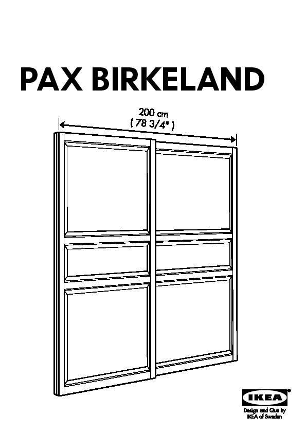 Pax Armoire Portes Coulissantes Birkeland Blanc Ikea France