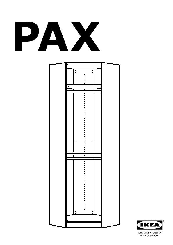 pax corner wardrobe white stained oak effect vikanes blue. Black Bedroom Furniture Sets. Home Design Ideas