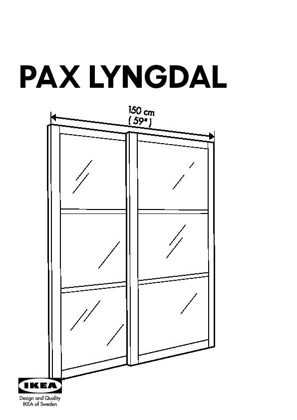 pax lyngdal jeu 2 ptes coul verre aluminium ikea france ikeapedia. Black Bedroom Furniture Sets. Home Design Ideas