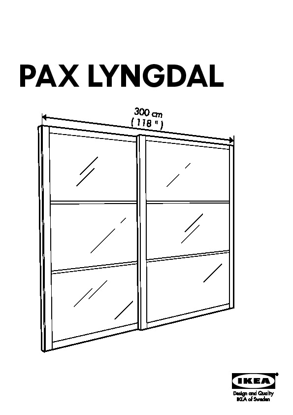 Pax Armoire Portes Coulissantes Blanc Lyngdal Verre Ikea