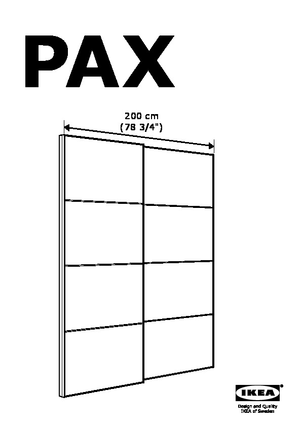Pax Pair Of Sliding Door Frames  Rail Aluminum Ikea United States