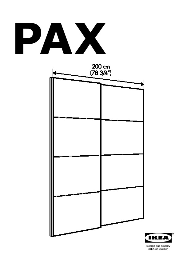 Pax Pair Of Sliding Door Frames  Rail White Ikea United States