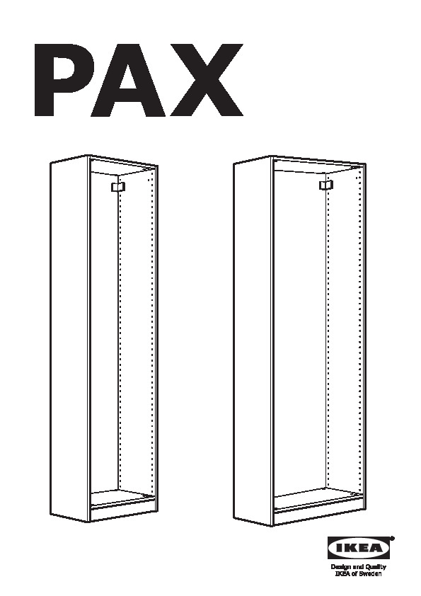 Ikea Struttura Guardaroba Pax.Pax Guardaroba Bianco Hurdal Marrone Chiaro Ikea Italy Ikeapedia
