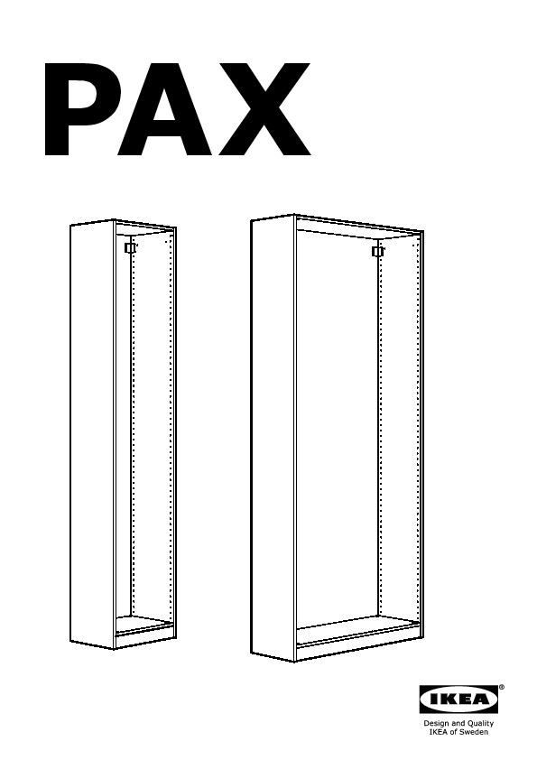Pax Struttura Guardaroba.Pax Guardaroba Con 1 Anta Marrone Nero Storas Vetro Nero