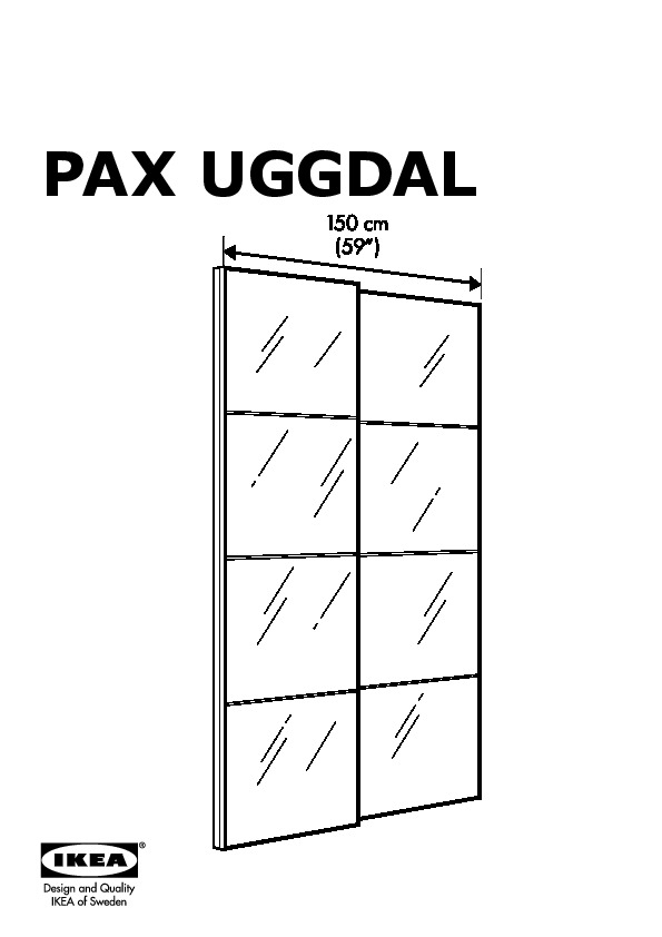 Pax Wardrobe With Sliding Doors Black Brown Uggdal Gray Ikea United States Ikeapedia