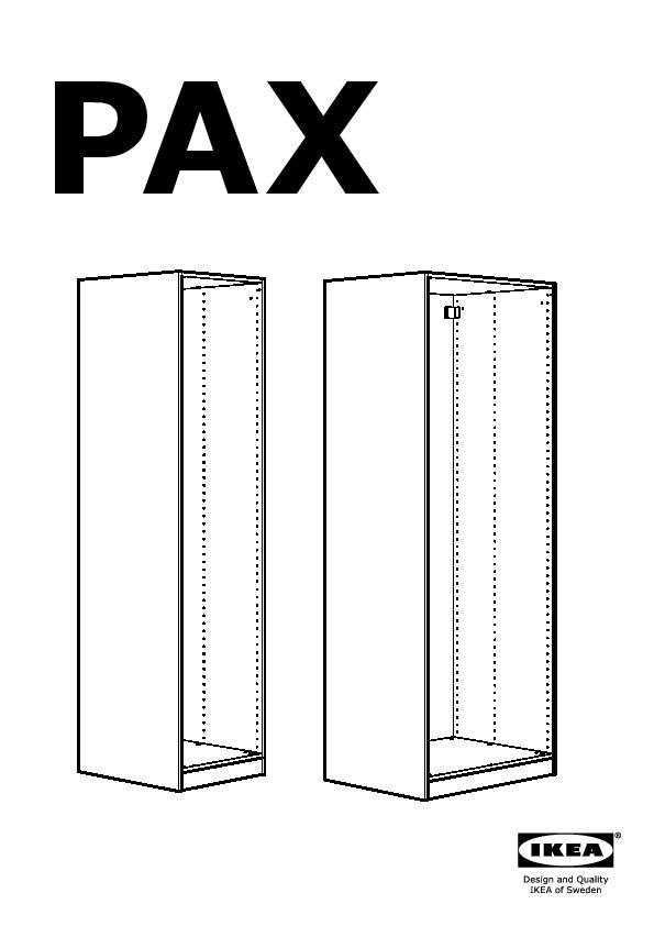 PAX Wardrobe with sliding doors white, Hasvik white (IKEA